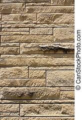 Old Beige Cut Stone Wall