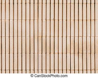 old beige wall of concrete blocks