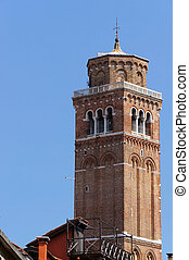 Old Bell tower in Venice