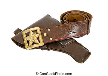 Old belt and holster