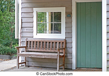 Old Bench on Porch