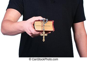 Old bible cross
