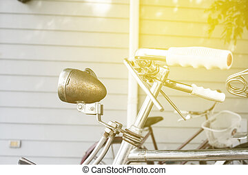 Old bicycle in soft light