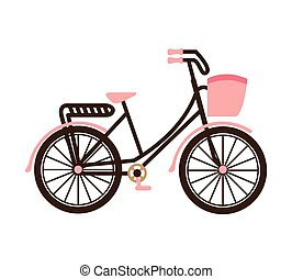 old bicycle retro icon