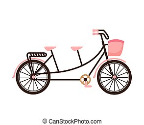 old bicycle retro icon