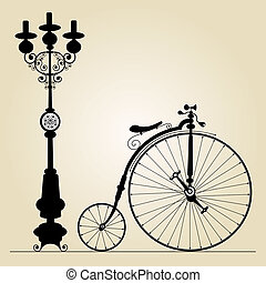 old bicycle template with space for your message