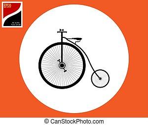 old big bicycle