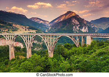 canyon - Old big bridge in Durdevica and fantastic view Tara...