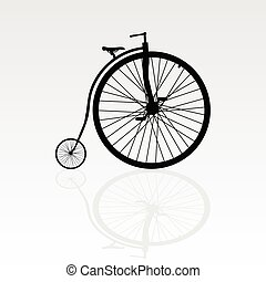 old bike vector illustration