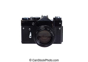 old black 35mm SLR camera