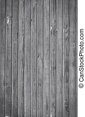 Old black and white plank wood wall background