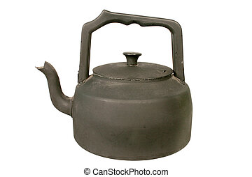 Old black stove kettle