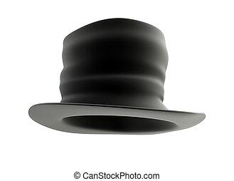 old Black top hat