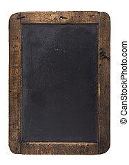 Old blackboard - An old blank blackboard isolated on white