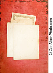 old blank cards