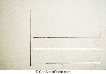 Old blank grunge postcard