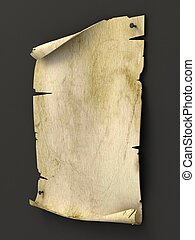 old blank manuscript as background 3d illustration