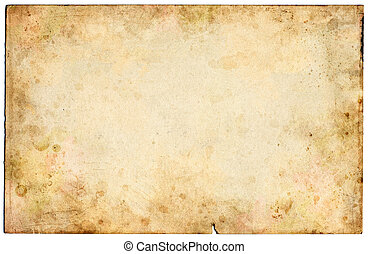 Old Blank Paper - Old mottled paper with grungy stains.