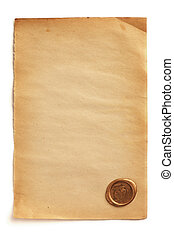 Old blank paper