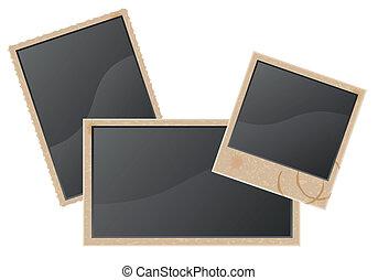 old blank photo vector illustration