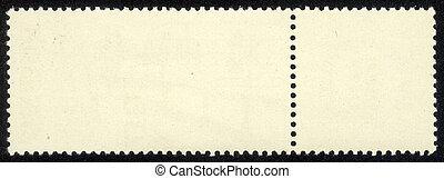 old blank postage stamp