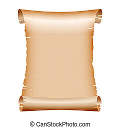 old blank scroll paper on white background. vector illustration