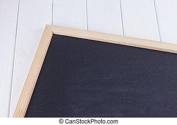 Old Blank Vintage School Slate Or Chalkboard Lying