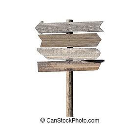 Old Blank Wood Arrow Sign