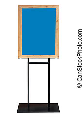 Old Blue Chalkboard menu sign mockup template isolated for your restaurant design