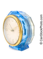 Old blue clock