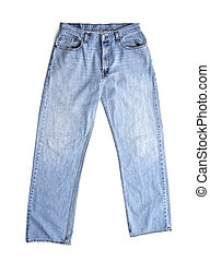 Old Blue Jeans on White