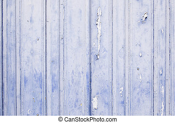 Old blue painted wood