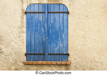 Old blue window