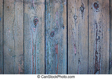 Old blue wood background