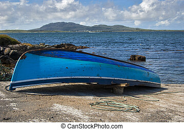 Old boat in Connemara Ireland