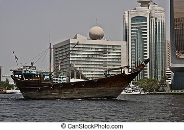 Old boat in Dubai