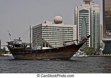 Old boat in Dubai