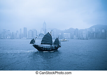 old boat in Hong Kong