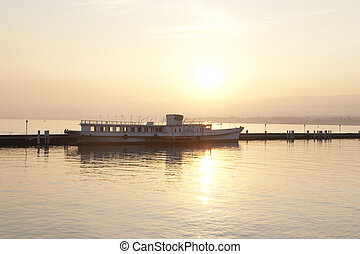 Old Boat on Lake Geneva; Lausanne; Switzerland