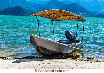 Old boat on the Skadarske lake