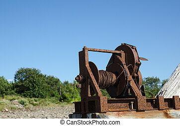 Old boat winch