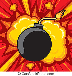 old bomb starting to explode