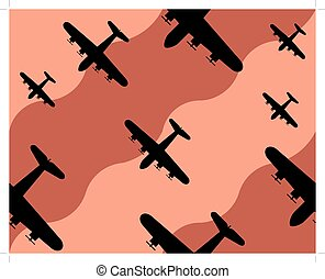 old bomber background