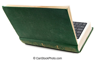 Old book as laptop