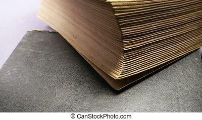 Close up of an old book