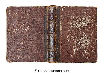 Old book cover isolated