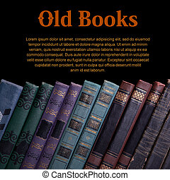 Old book - Decrepit old vintage book compiled in a row on a...