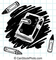old book doodle