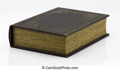 Old book isolated on a white