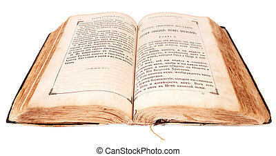 old book isolated on a white background